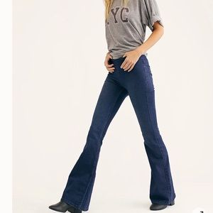 Free People bell bottom pull on jeans